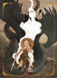 Eowyn, Nazgul, sword
